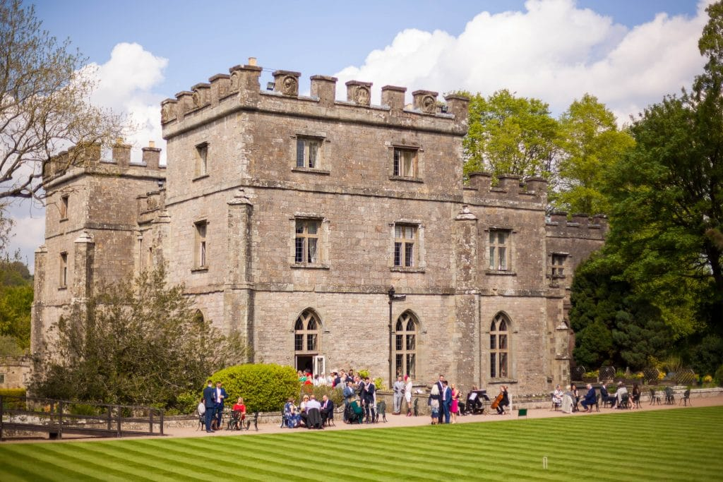 same sex clearwell castle wedding gloucestershire, outside of the castle