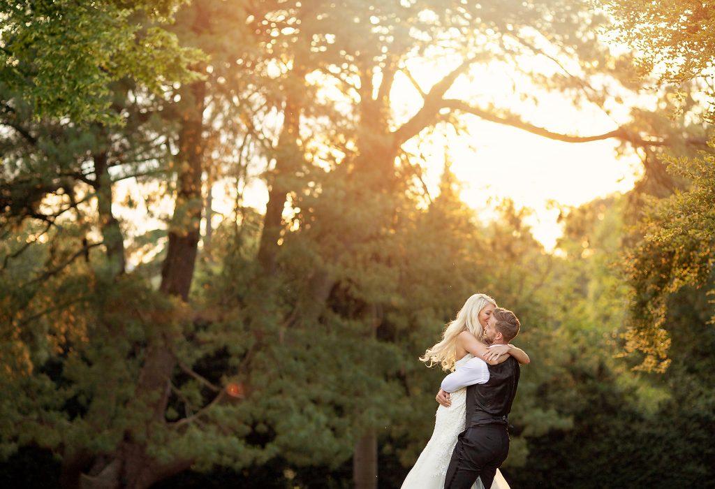 Bride groom sunset esme robinson photography real wedding bedfordshire sunset